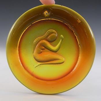 Ekenas Orange Vintage Glass 'Virgo' Zodiac Suncatcher