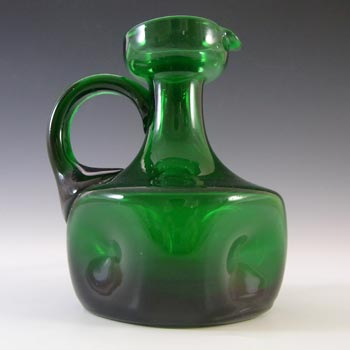 Empoli Verde Italian Green Glass Dimpled Jug/Pitcher