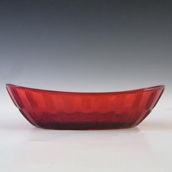 Gullaskruf 1950's Red Glass 'Randi' Bowl by Lennart Andersson