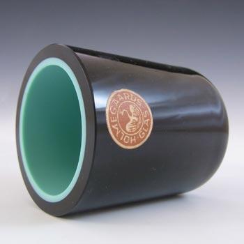 Holmegaard Black & Turquoise Green Vase/Pot - Labelled