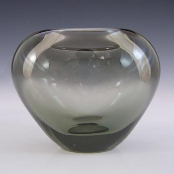 Holmegaard #15734 Per Lutken 'Smoke' Glass 'Minuet' Vase - Signed