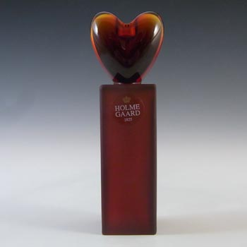 Holmegaard Red Glass 'Heart' Candlestick by Anja Kjær