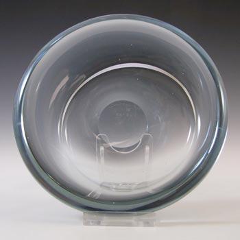 Holmegaard #15737 Per Lutken 'Akva' Blue Glass Bowl - Signed