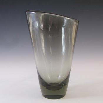 Holmegaard #16509 Per Lutken Smokey Glass 'Thule' Vase - Signed