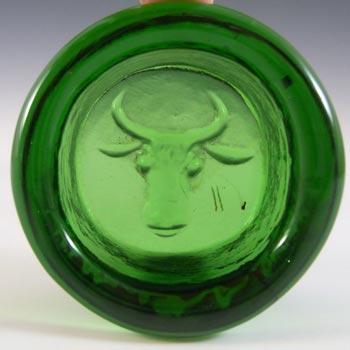 Kosta Boda Swedish Green Glass Bull Bowl by Erik Hoglund