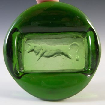 Kosta Boda 60s Swedish Green Glass Bull Bowl - Erik Hoglund