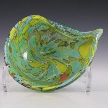 Murano Vintage Silver Leaf & Coloured Murrines Glass Bowl