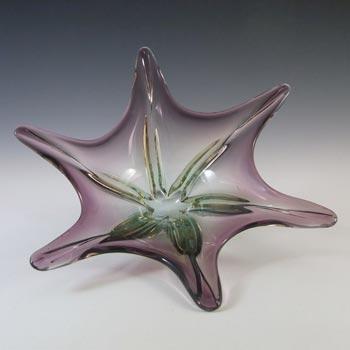 Cristallo Venezia CCC Murano Purple & Blue Sommerso Glass Bowl