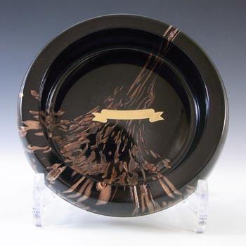 LABELLED V Nason & C Murano Aventurine Glass Bowl/Ashtray