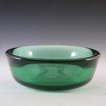 MARKED Orrefors Sven Palmqvist Green Glass Fuga Bowl
