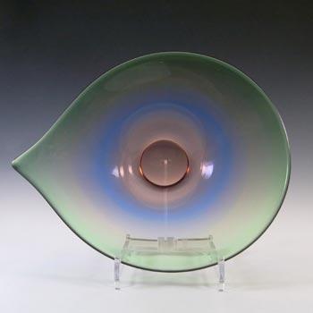 Large British / Stourbridge? Vintage Rainbow Glass Bowl