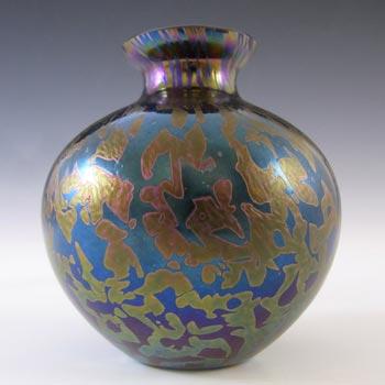 MARKED Royal Brierley Vintage Iridescent Glass 'Studio' Vase