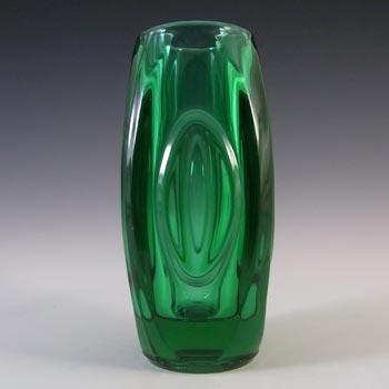 Rosice Sklo Union Green Glass Lens / Bullet Vase