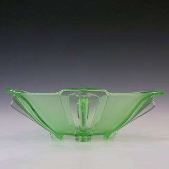 Stölzle #19280 Czech Art Deco Uranium Green Glass Bowl