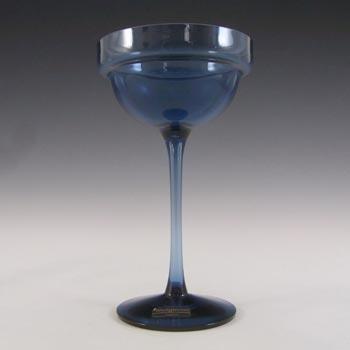 Wedgwood/Stennett-Willson Blue Glass Cromer Candlestick RSW16/2