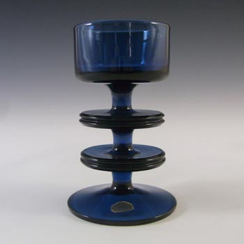 MARKED Wedgwood Sapphire Glass Sheringham Candlestick RSW13/2