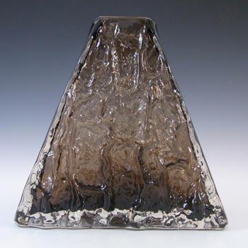 Whitefriars #9674 Baxter Cinnamon Textured Glass Pyramid Vase