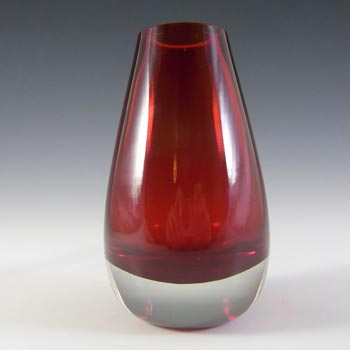 Whitefriars #9647 Baxter Ruby Red Glass Bud Vase