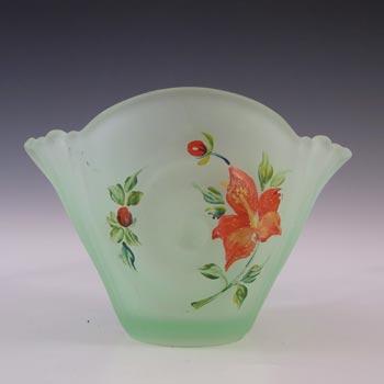 Bagley #3257 Art Deco Green Glass 'Neptune' Posy Vase