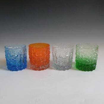 Whitefriars #M31 Baxter 4 x Textured Glass Bark Tumblers