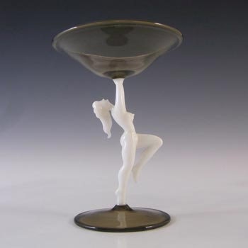 Bimini 1930's Art Deco Austrian Nude Lady Spirit Glass