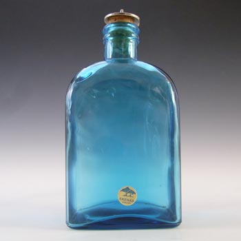 Ekenas Swedish/Scandinavian Amber Glass Schnapps Bottle