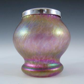 Heron Glass British Pink Iridescent Glass Posy Vase