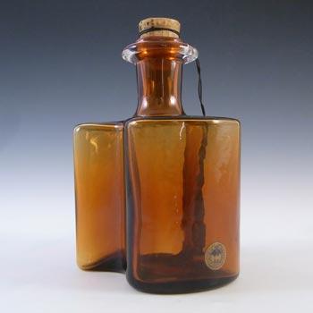 Holmegaard 'Hiverten' Amber Glass Scnapps Bottle by Olsson & Rude