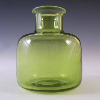 Holmegaard #18168 Per Lutken Green Glass 'Majgrøn' Vase - Signed