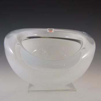 Holmegaard #3410169 Per Lutken White Glass Bowl / Ashtray