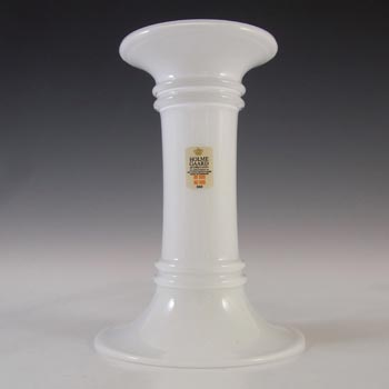 Holmegaard Michael Bang White Opal Glass 'MB Series' Candlestick