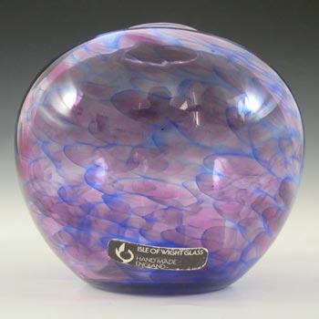 Isle of Wight Studio 'Heather' Purple & Blue Glass Globe Vase