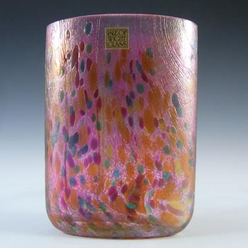 Isle of Wight Studio 'Summer Fruits' Cranberry Glass Vase