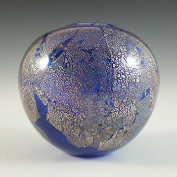 Isle of Wight Studio / Harris 'Azurene Blue' Glass Globe Vase
