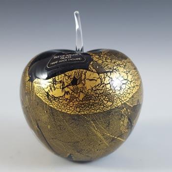 Isle of Wight Studio / Harris 'Azurene Gold' Glass Apple