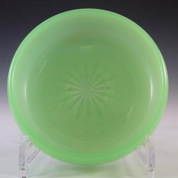 Jobling #1054 Art Deco Uranium Jade Green Glass Bowl