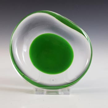 SIGNED Kosta Boda Green Glass Bowl by Vicke Lindstrand #1128