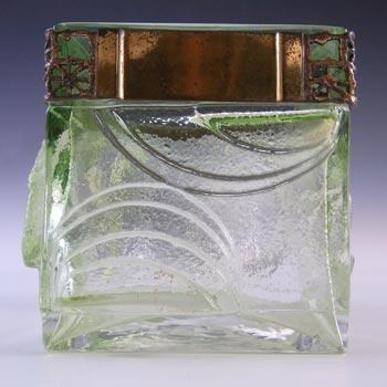 SIGNED Kumela Finnish Green Glass Vase by Pentti Sarpaneva