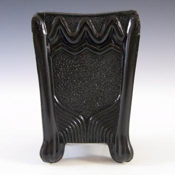 Sowerby Victorian Black Milk Glass Vitro-Porcelain Spill Vase