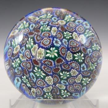 MARKED Murano Vintage ALT Millefiori Glass Paperweight
