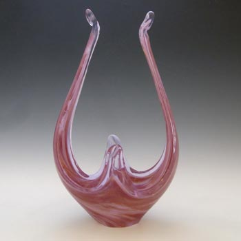 Viartec Murano Style Spanish Red & White Neodymium Glass Sculpture