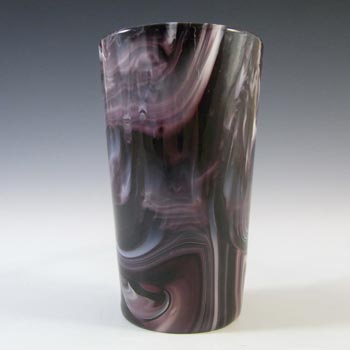 Sowerby MARKED Victorian Purple Malachite/Slag Glass Tumbler