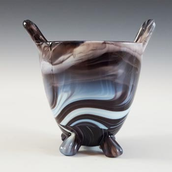Sowerby #1288 Victorian Purple Malachite / Slag Glass Spill Vase