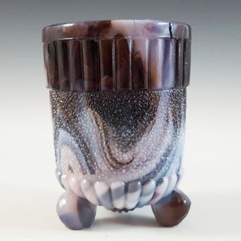 Sowerby #1148 Victorian Antique Malachite / Slag Glass Spill Vase