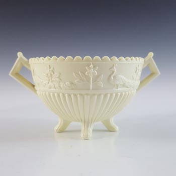 Sowerby #1350 Victorian Queen's Ivory Milk Glass Bowl - Marked