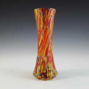 Czech Multicoloured Art Deco Vintage Spatter Glass Vase