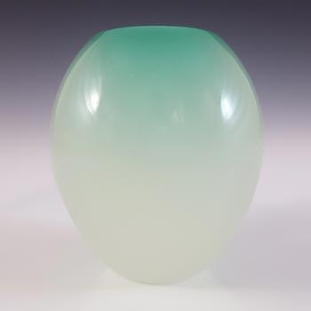 Archimede Seguso Alabastro Green Glass Ovoid Vase - Labelled