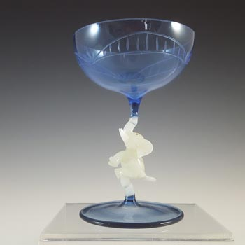 Bimini 1930s Austrian Blue & White Elephant Spirit Glass