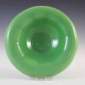 Davidson #248D Art Deco 1930's Jade Green Glass Bowl