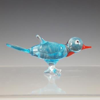Japanese Lampworked Glass Bird - Irene Series Label